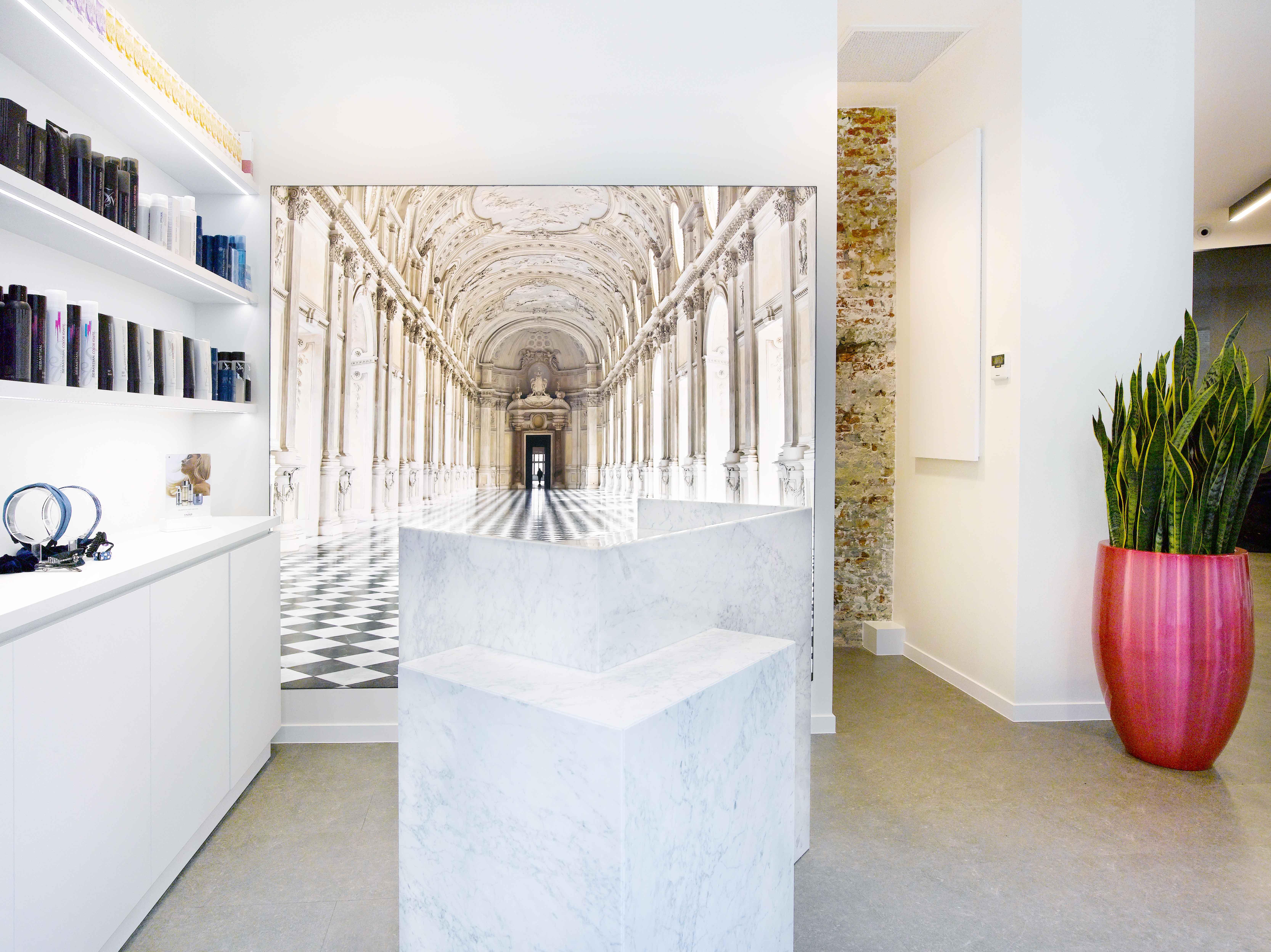 Jochen Vanhoudt Antwerpen Kapsalon interieur Interieurdesign